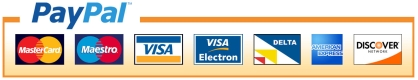 payment via visa, mastercard